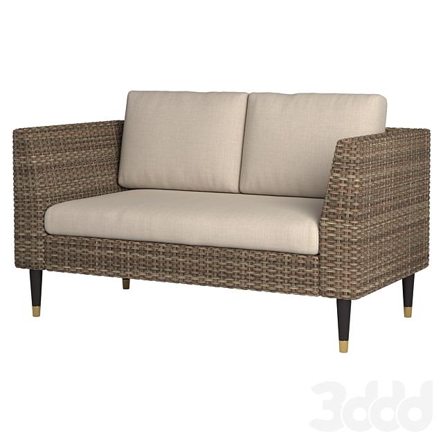 2 Seat Wicker Sofa
