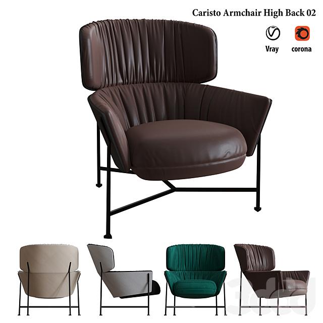 Caristo Armchair High Back 01