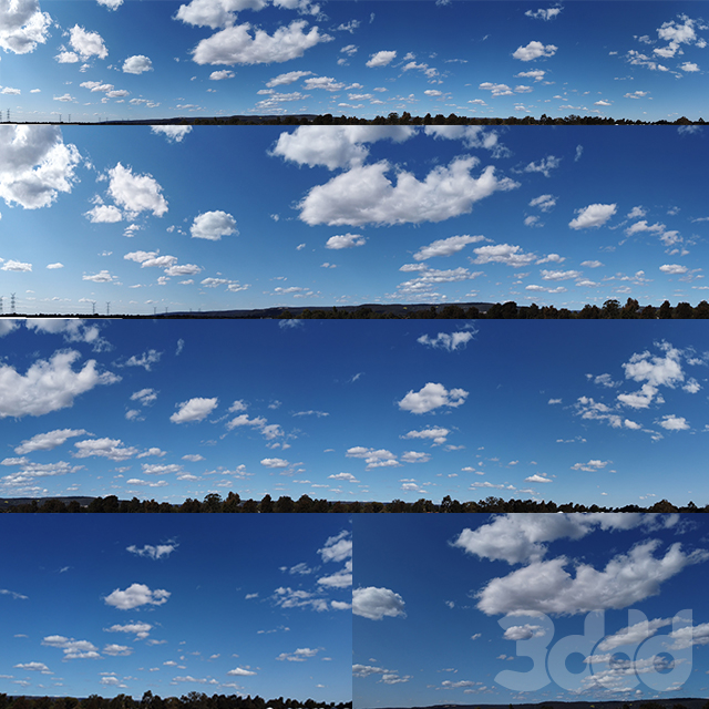Panorama cloudy sky_version 2