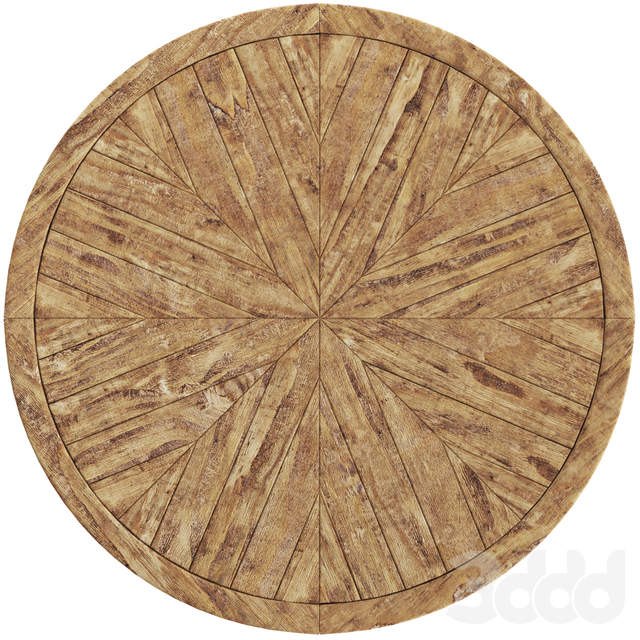 Crisal Decoration Wooden Round Table