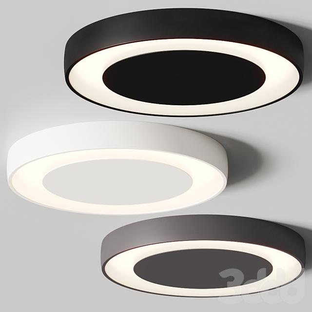 Modular Lighting Instruments Flat Moon Eclips Ceiling Lamps