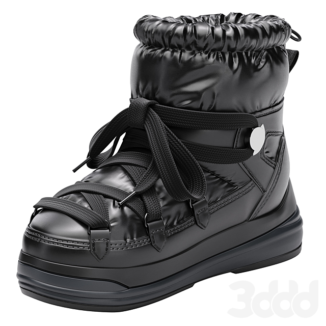 Moncler угги на шнуровке