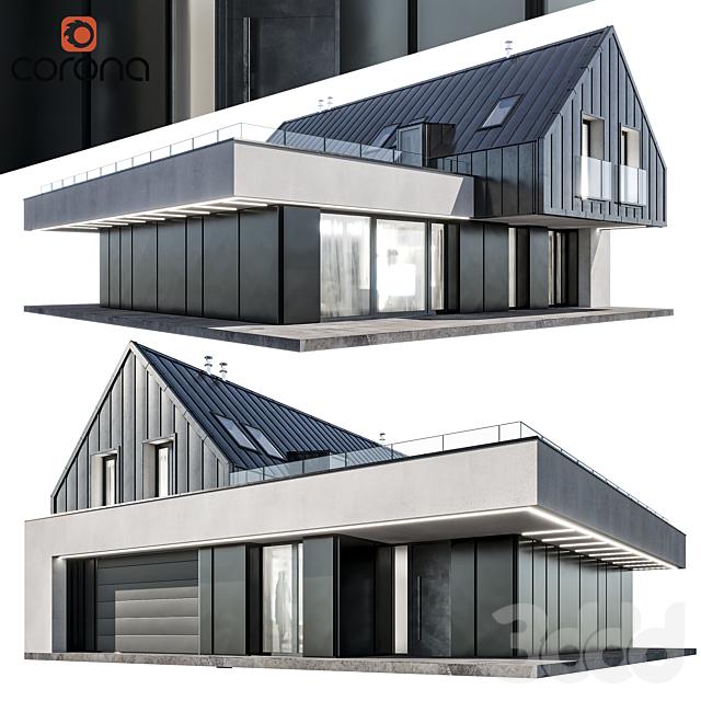 Modern house 10   night