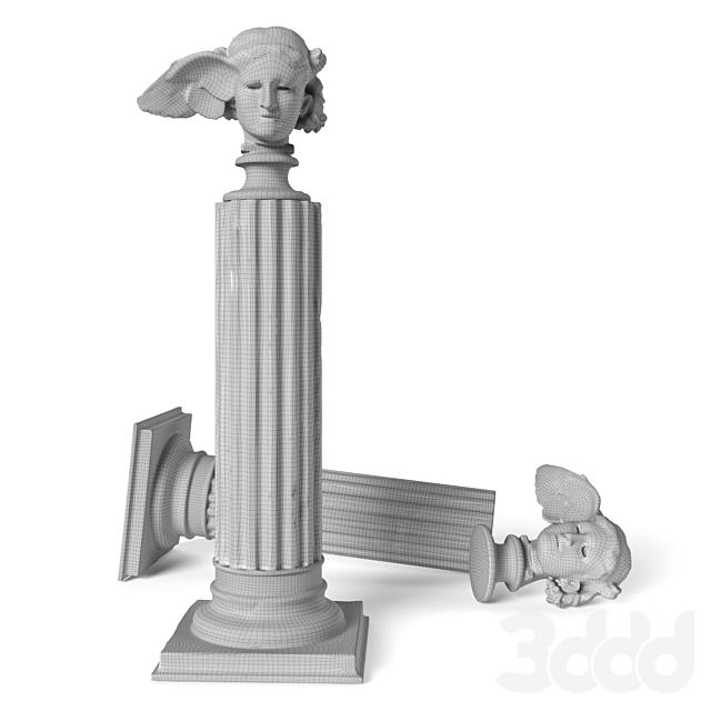 Hypnos head classic sculpture