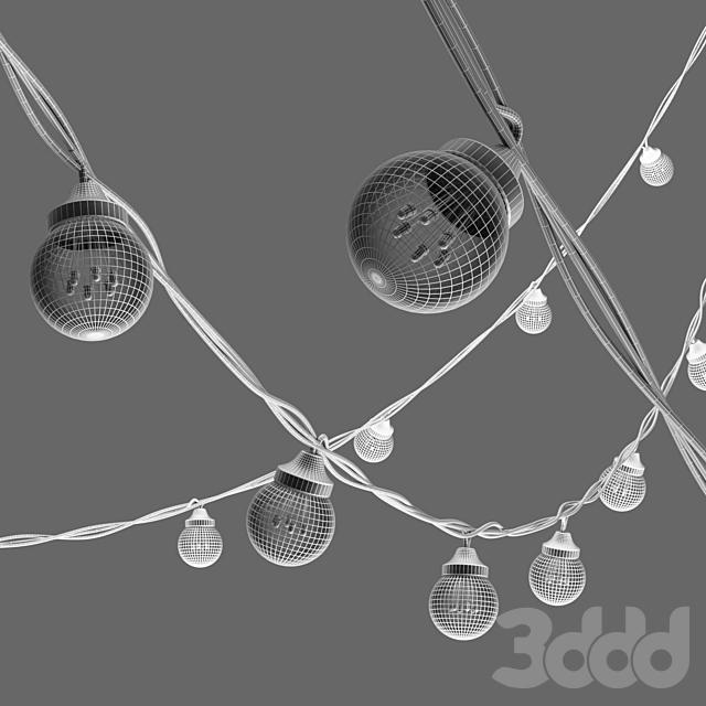 Editable Garland Galaxy Bulb String