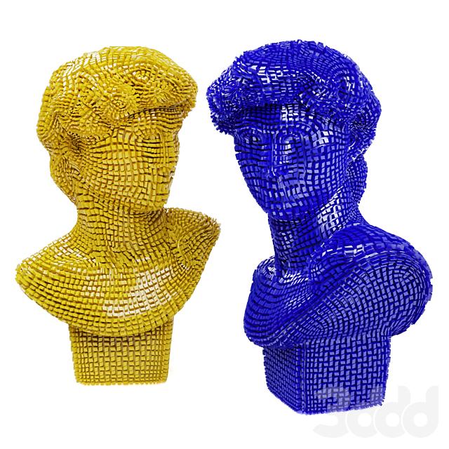 David Michelangelo bust patches