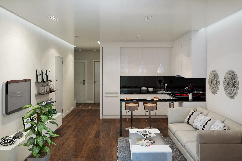 них кухня ниша в квартире студии фото работы специально выбрана