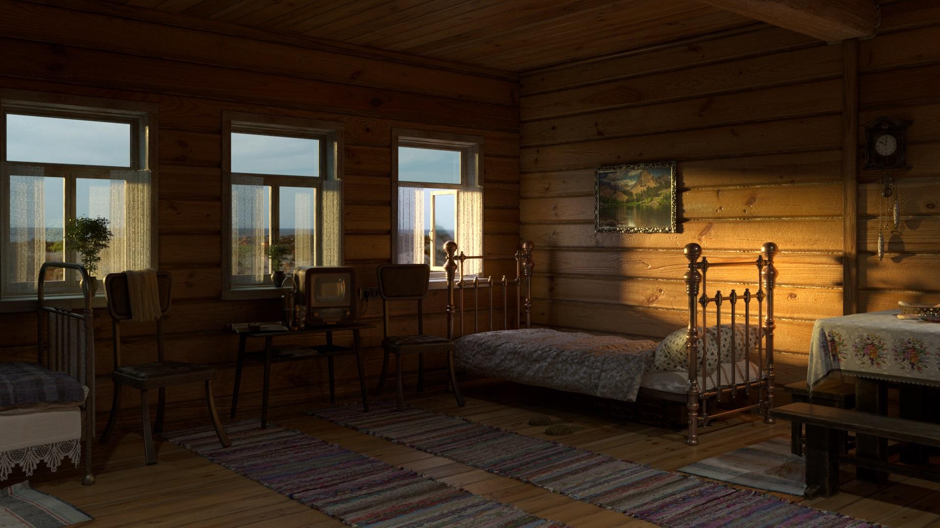 Дом деревенский изнутри картинки